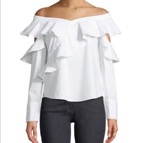 Laundry By Shelli Segal Tops - Laundry SS White Off The Shoulder Blouse
